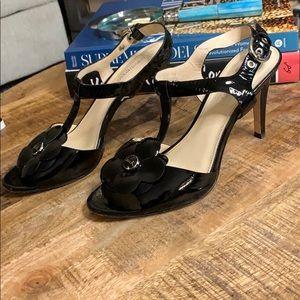 Coach Poppy women's black patent leather shoe